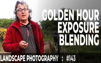 Landscape Photography Golden Hour Exposure Blending (Ep #143)